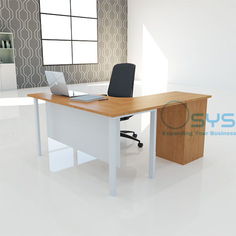 N Series L Desk w Pedestal 2 1