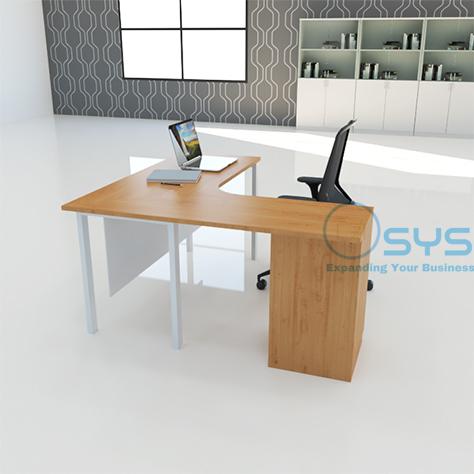 N Series L Desk w Pedestal 3 1