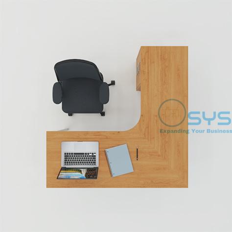 N Series L Desk w Pedestal 4 1