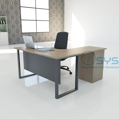 O Series L Desk w Pedestal 2 1