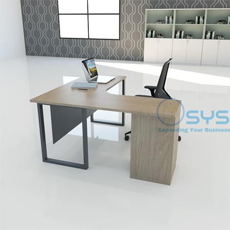 O Series L Desk w Pedestal 3 1