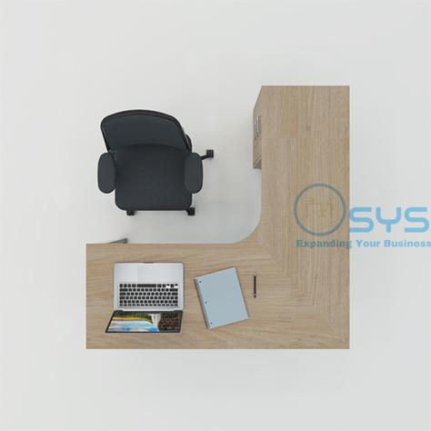 O Series L Desk w Pedestal 4 1